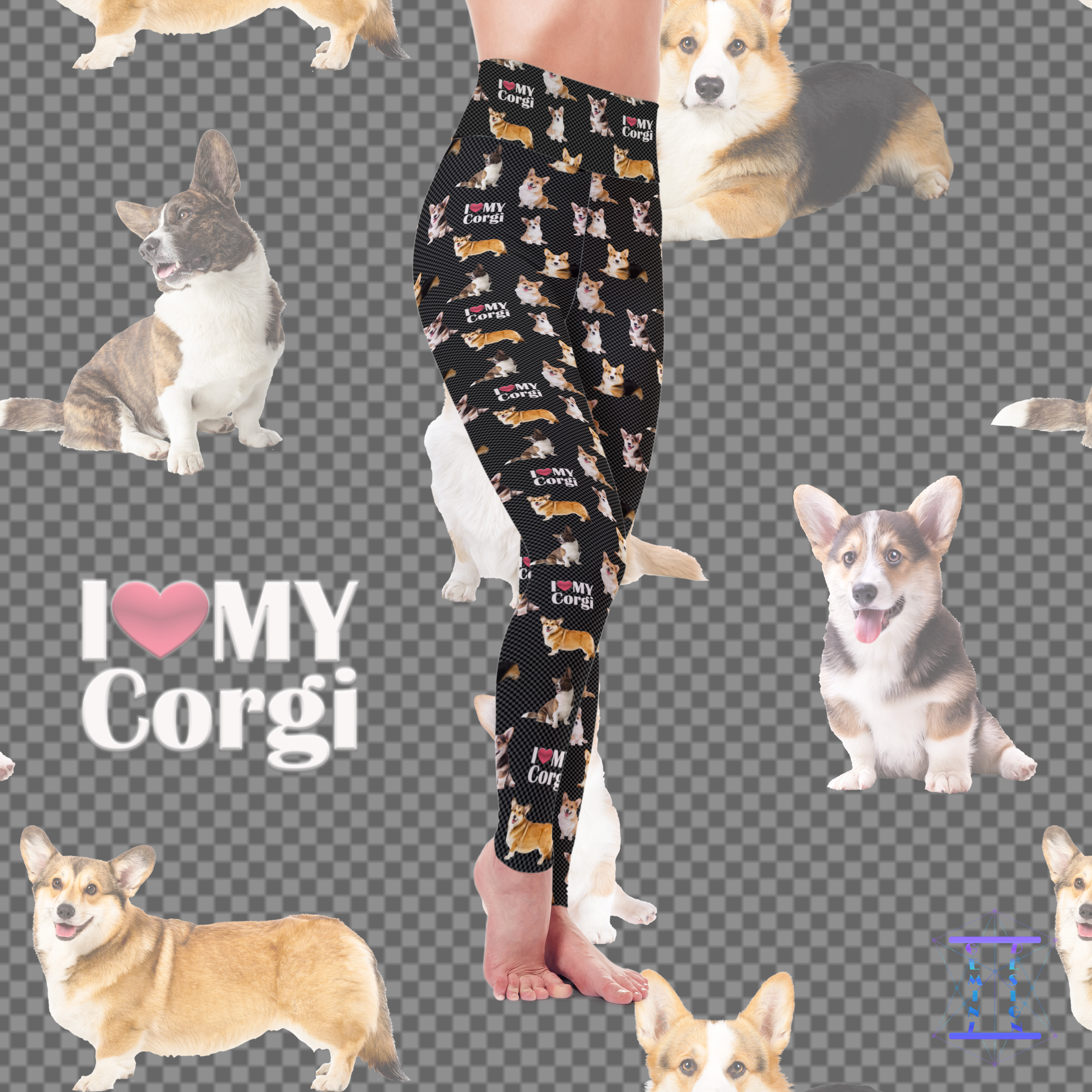 Dog Mom Series - Corgi Leggings
