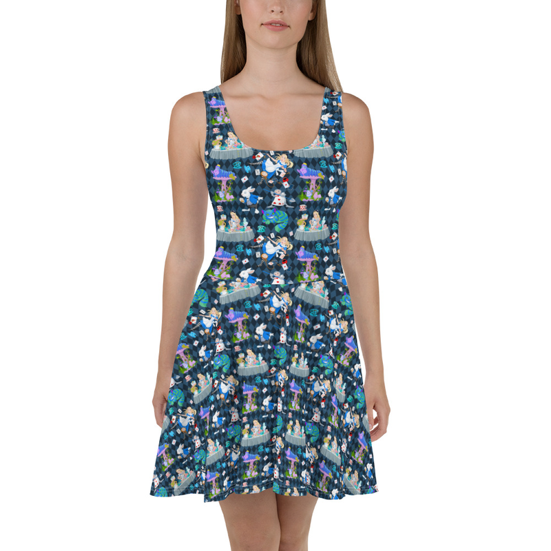 Alice in Wonderland Skater Dress
