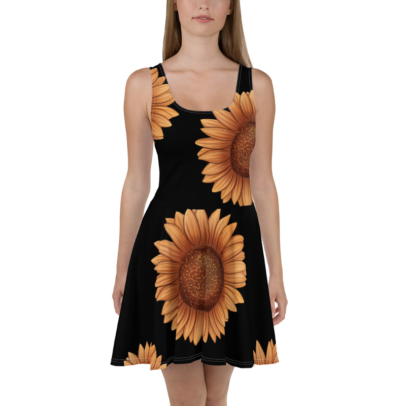 Autumn Sunflowers Skater Dress
