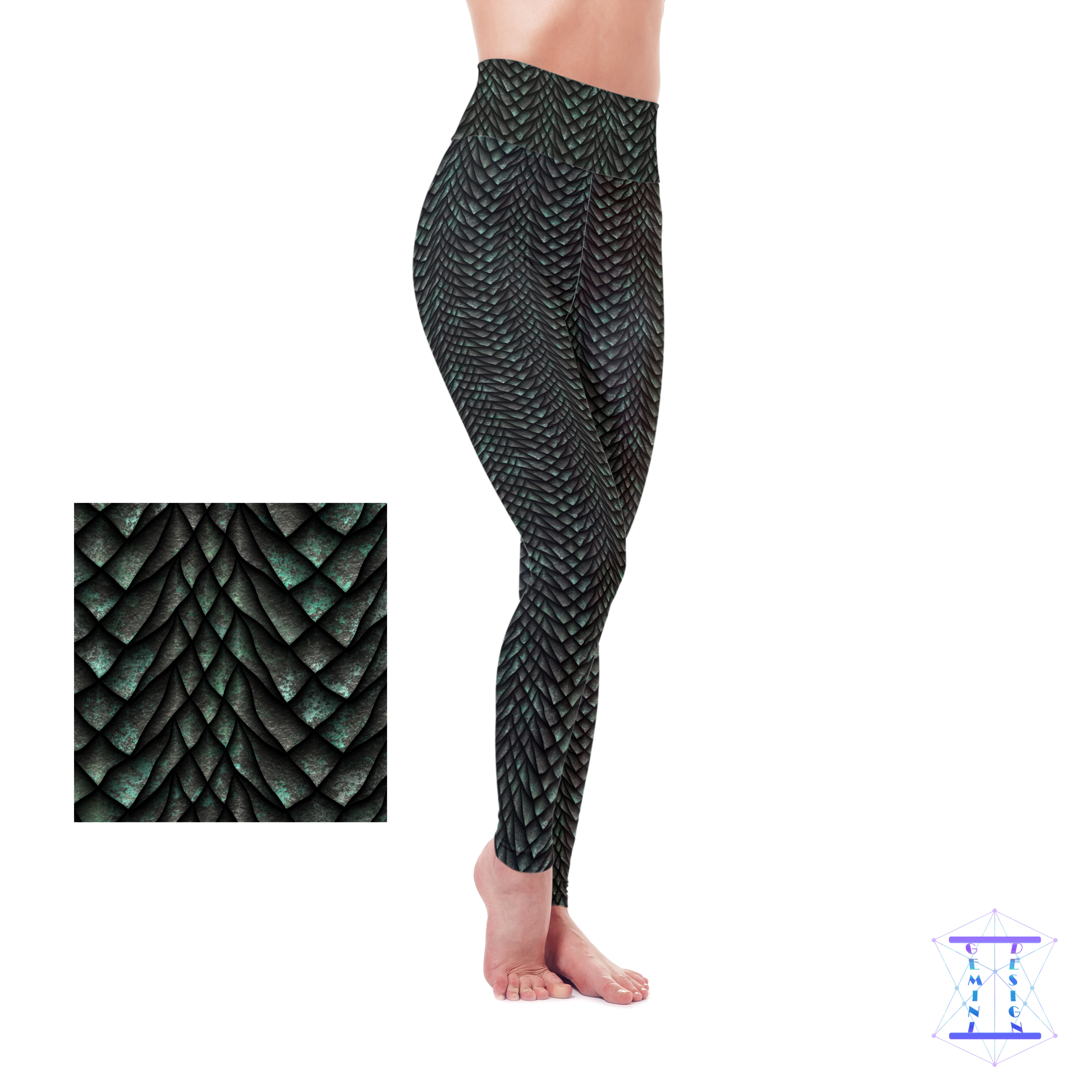 Dragon Scales (3 Colors) Leggings