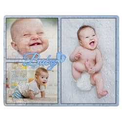 Baby Blue Frame Puzzle