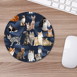 Cats Pattern Mouse Pad