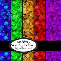 Color Splatters * Seamless Pattern