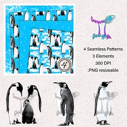 Penguins * Seamless Pattern