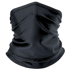 Solid Black Neck Gaiter