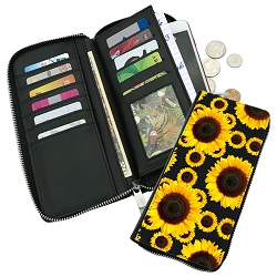 Sunflowers Zippered Wallet
