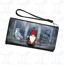 Wristlet Wallet House Gnome Red