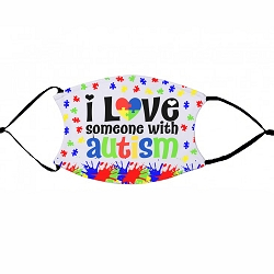 Love Someone with Autism - non-medical face mask