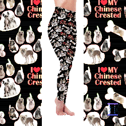 Dog Mom Series - Chinese Crested (Hairless & Powerderpuff) Leggings